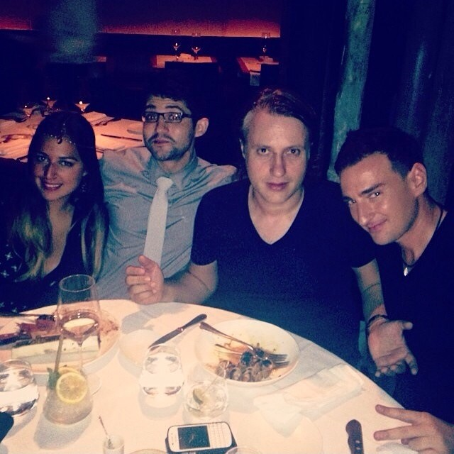 Great dinner last night before gig with @edxmusic @kramerbpm @helloelishia and Matt