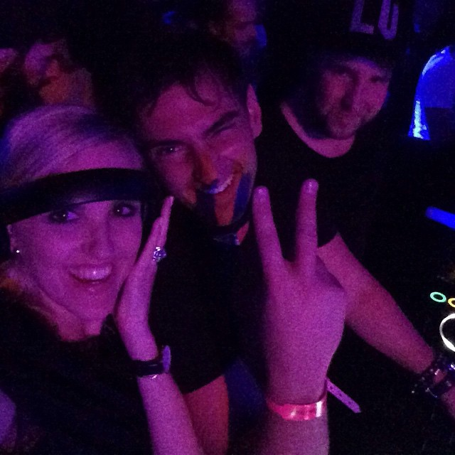 Good times in the dj booth at the NoXcuses party with @carusod and @ciri202 who borrowed @edxmusic headphones and tried to hustle me for a back to back...