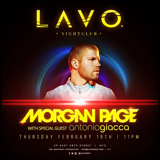 See you at @lavony tonight, I'm playing alongside Morgan Page so you know it's gonna be a good one... Can't wait, let me know here if you coming and I'll buy you a drink at the club! ?