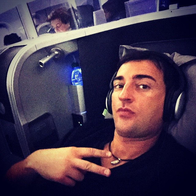 On my way to New York for my gig at @lavony ... The new first class on